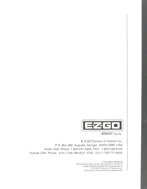 Amazon.com : EZGO 28503G01 1998-1999 Technician's Repair and Service Manual  for Gas ST350 Workhorse : Outdoor Decorative Fences : Garden & Outdoor