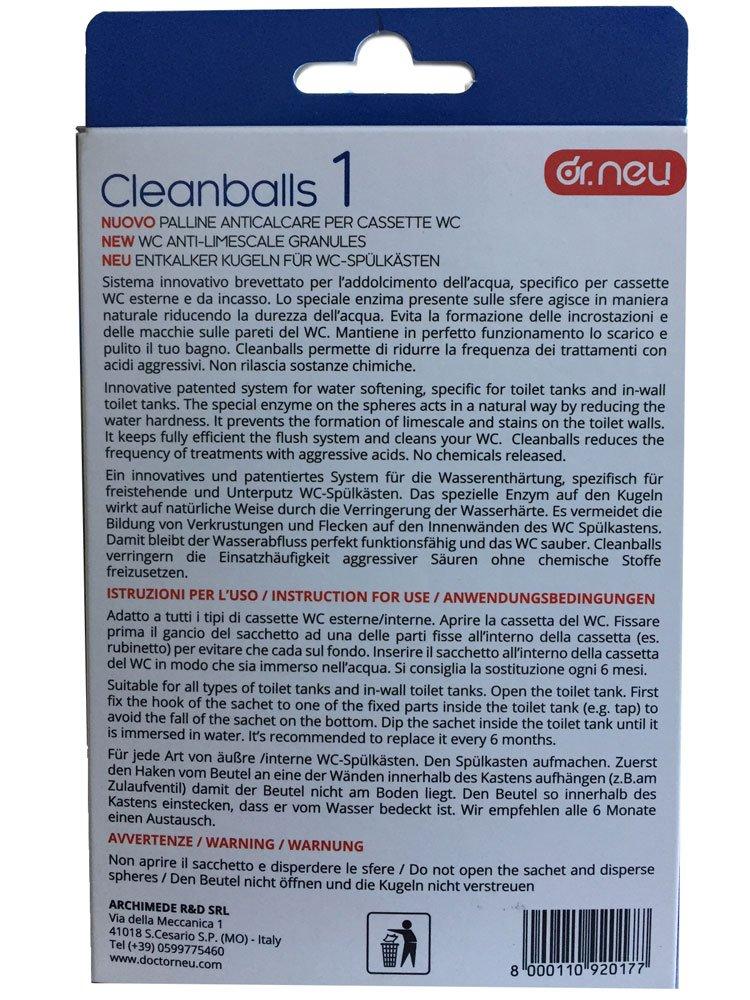 Cleanballs – Dr. Neu – Innovadoras bolas antical para el depósito ...