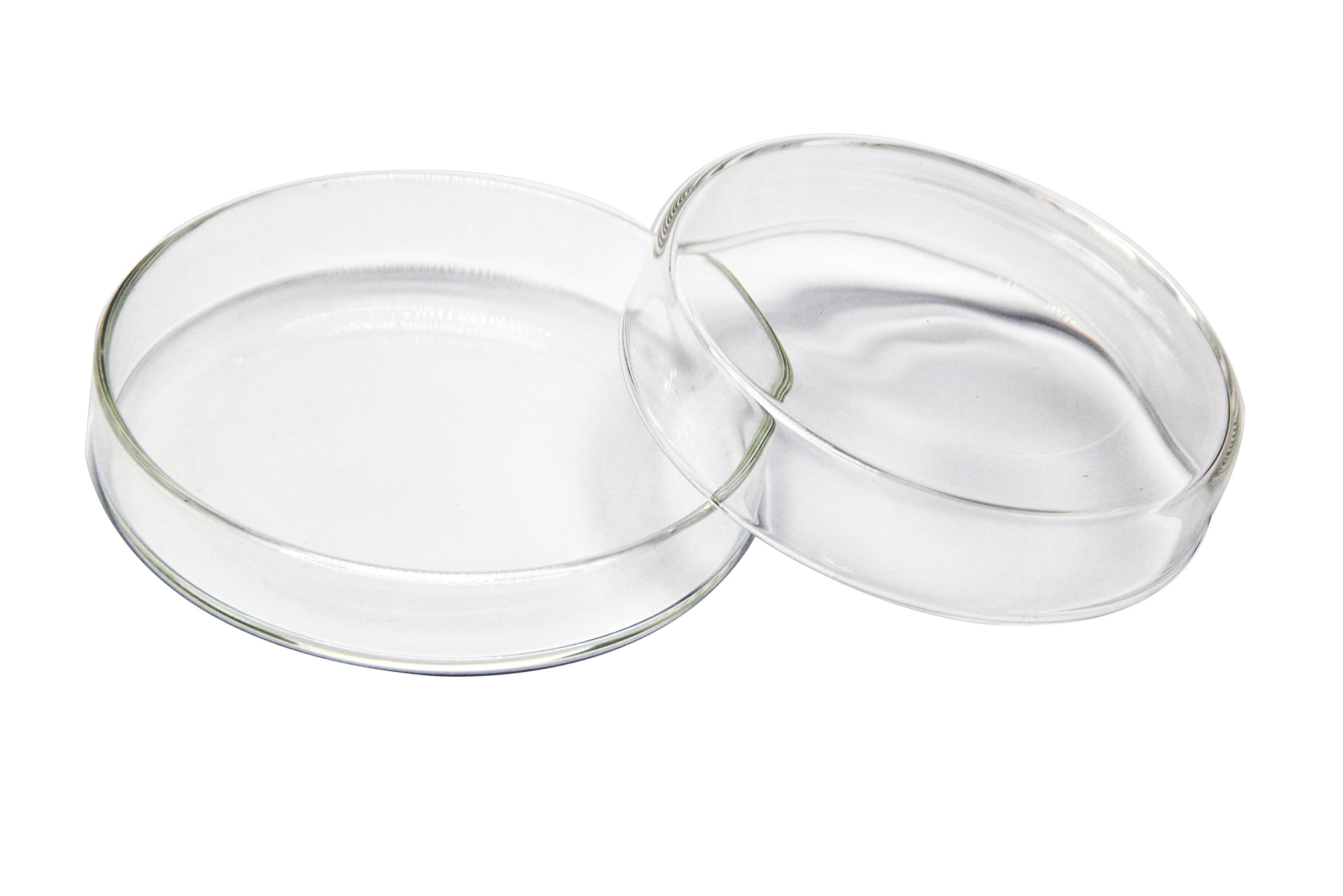 Huanyu 90mm High Borosilicate Glass Petri Dishes Bacterial Culture Dishes, a Pack of 5PCS