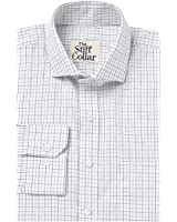 The Stiff Collar Grey Blue Tattersall checks