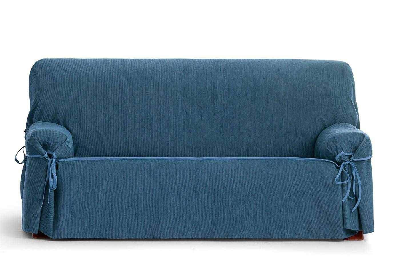 Jarrous Funda de Sofá Universal Impermeable Modelo Córdoba, Color Azul-03, Medida 2 Plazas