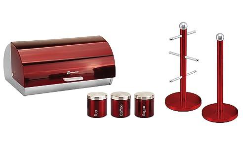Passende Küche Set Von Zwei Elemente: Brotkasten Und Kanister Und  Becherbaum Und Küchenrollenhalter Ständer Set