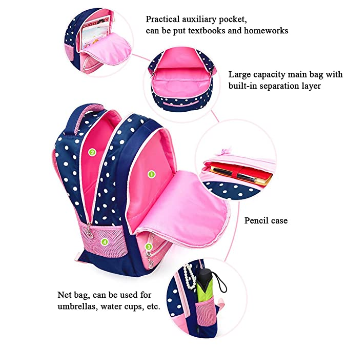 Amazon.com   Zhhlinyuan Candy Color Teenage Girl Primary School Bags Backpack Student Travel Bag   Kids Backpacks