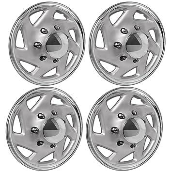OxGord 16 pulgadas tapacubos para Ford camiones y furgones E150 E250 E350 Econoline/F150 F250