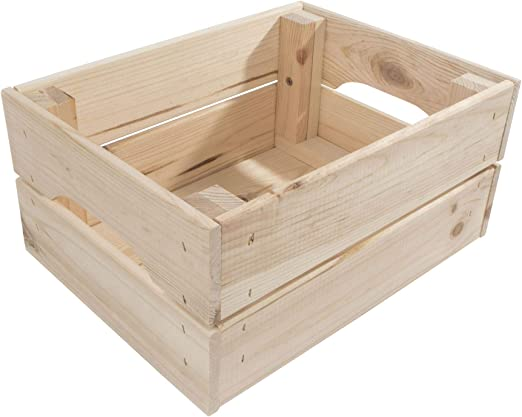 Cajas de Almacenamiento de Madera / 2 tamaños/Madera de Pino sin ...