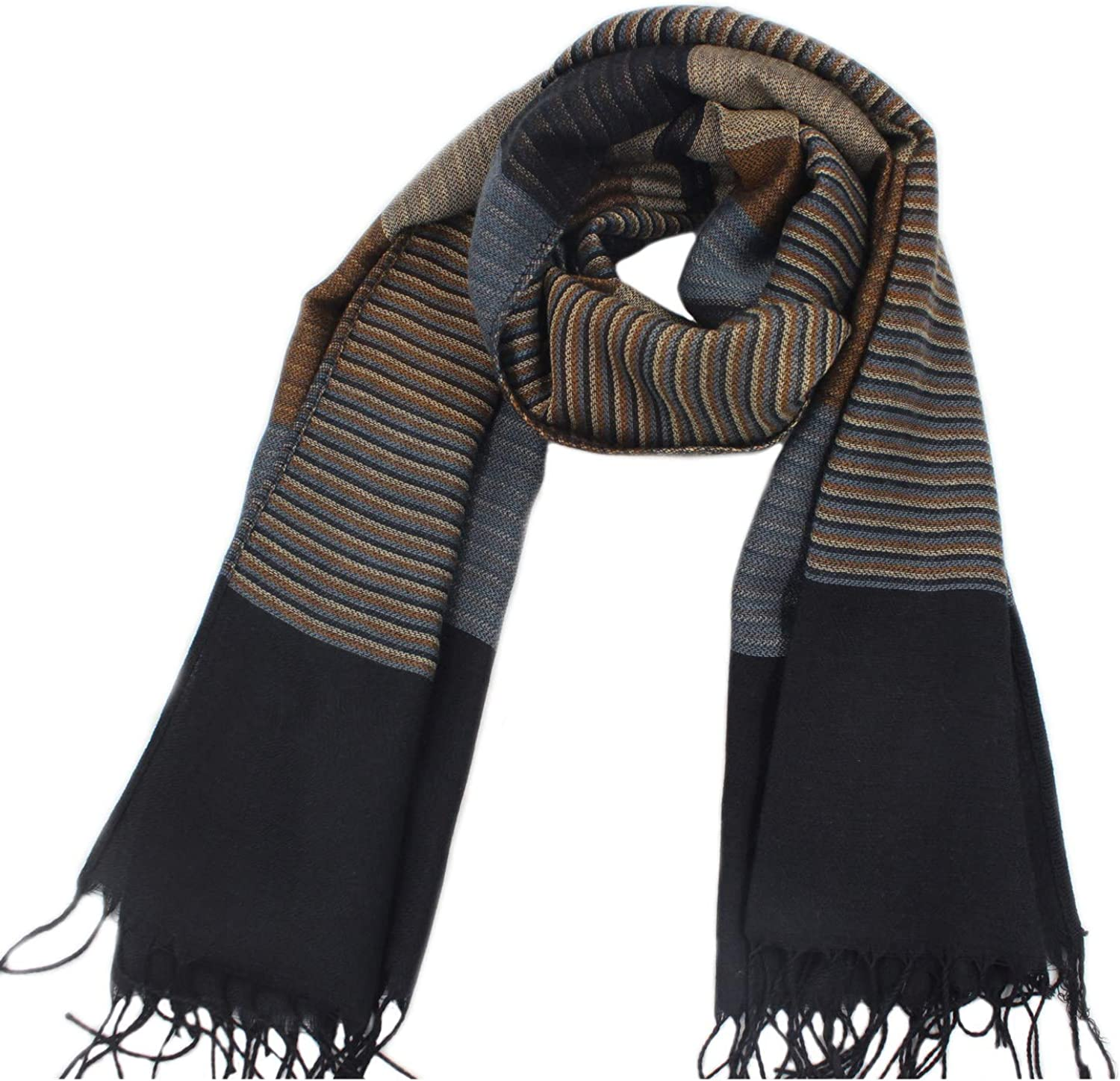 MESHIKAIER Autumn Winter Long Men/'s Fashion Cashmere Feel Scarf Neck Warm Scarf Casual Soft Scarf with Tassels