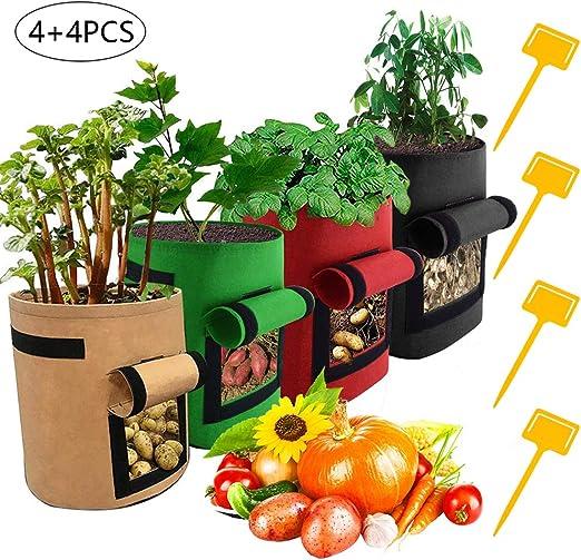 Bolsas de cultivo de patata, 4 unidades de recipientes para ...