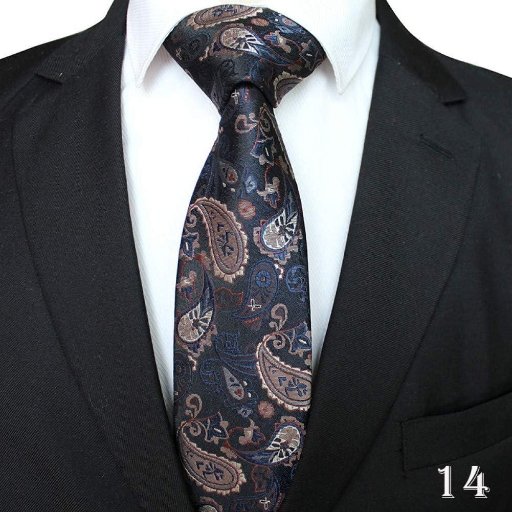 WOXHY Elegantes Corbatas Hombres Poliéster Yarn-Dyed Jacquard ...