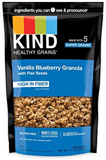 product image for KIND Healthy Grains Clusters, Vanilla Blueberry with Flax Seeds Granola, 10g Protein, Gluten Free, 11 Ounce (Pack of 6)