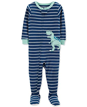 54c7d20a47f2 Amazon.com  Carter s Baby Boys  1 Piece Cotton Footed Sleepers  Clothing