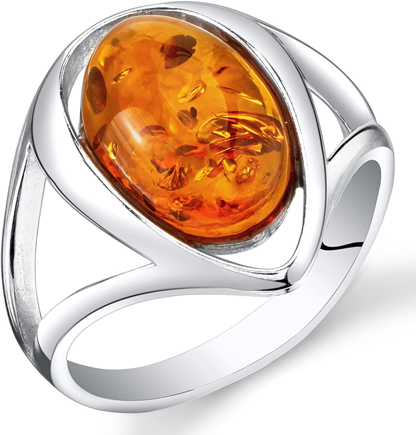 Amber Ring Woman/'s Ring Amber Silver Ring Artisan Ring Sterling Amber Ring Silver Amber Ring Oval Ring Vintage Ring Leaf Ring