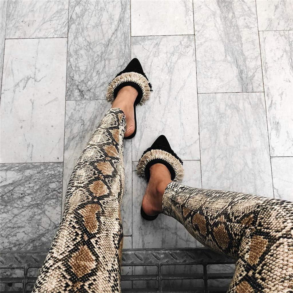 Topgrowth Leggings Donna Push Up Casual Stampa Serpente Pantaloni in Vita Elastica Slim Fit Club Fitness Jogging Tights