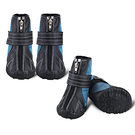 ca0000cd33e Only pet Dog Shoes Running Hiking Boots - Large Rain Waterproof Dog  Booties, Rubber Rugged Anti-Slip Sole Dog Shoe for Medium Large Dogs