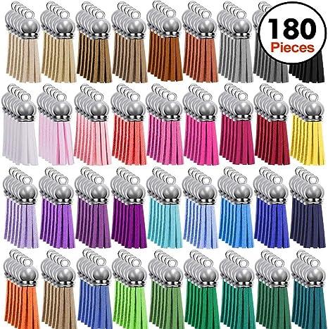 Blanks Keychain Bulk for DIY Keychain and Craft Supplies 150PCS Premium Keychain Tassels
