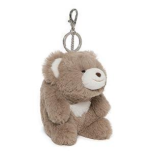 """GUND Snuffles Teddy Bear Stuffed Animal Plush Keychain Taupe 5"""""""