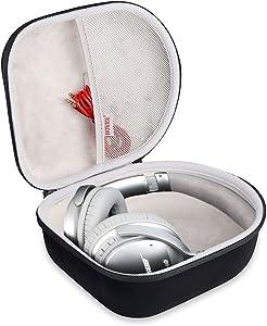 BOVKE Headphone Case Protective Carrying Travel Bag for Sony, Behringer, Audio-Technica, Philips, Xo Vision, Bose, Photive, Beats, Maxell, Panasonic (Black)