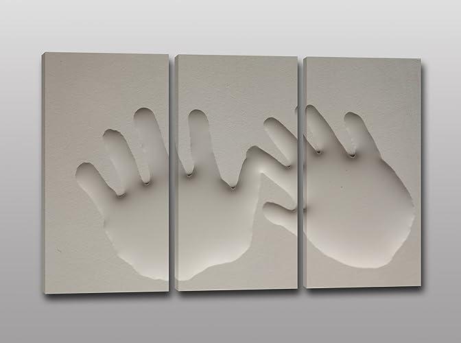 Quadri moderni stampa su tela impronte di mani quadro per