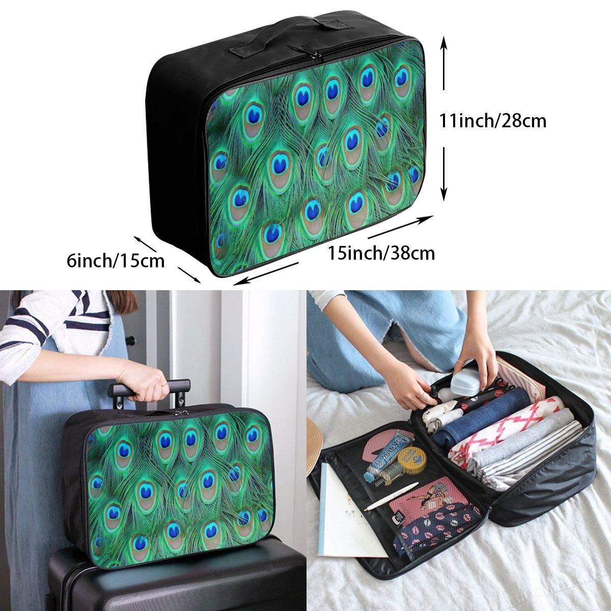Luggage Bag Travel Duffel Bag Waterproof Seamless Sailing Ships And Whales Lightweight Large Capacity Portable Storage Bag