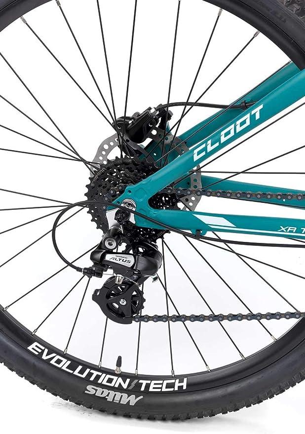 CLOOT Bicicleta Mujer montaña 7.0 Pro Shimano 27v, Horquilla ...