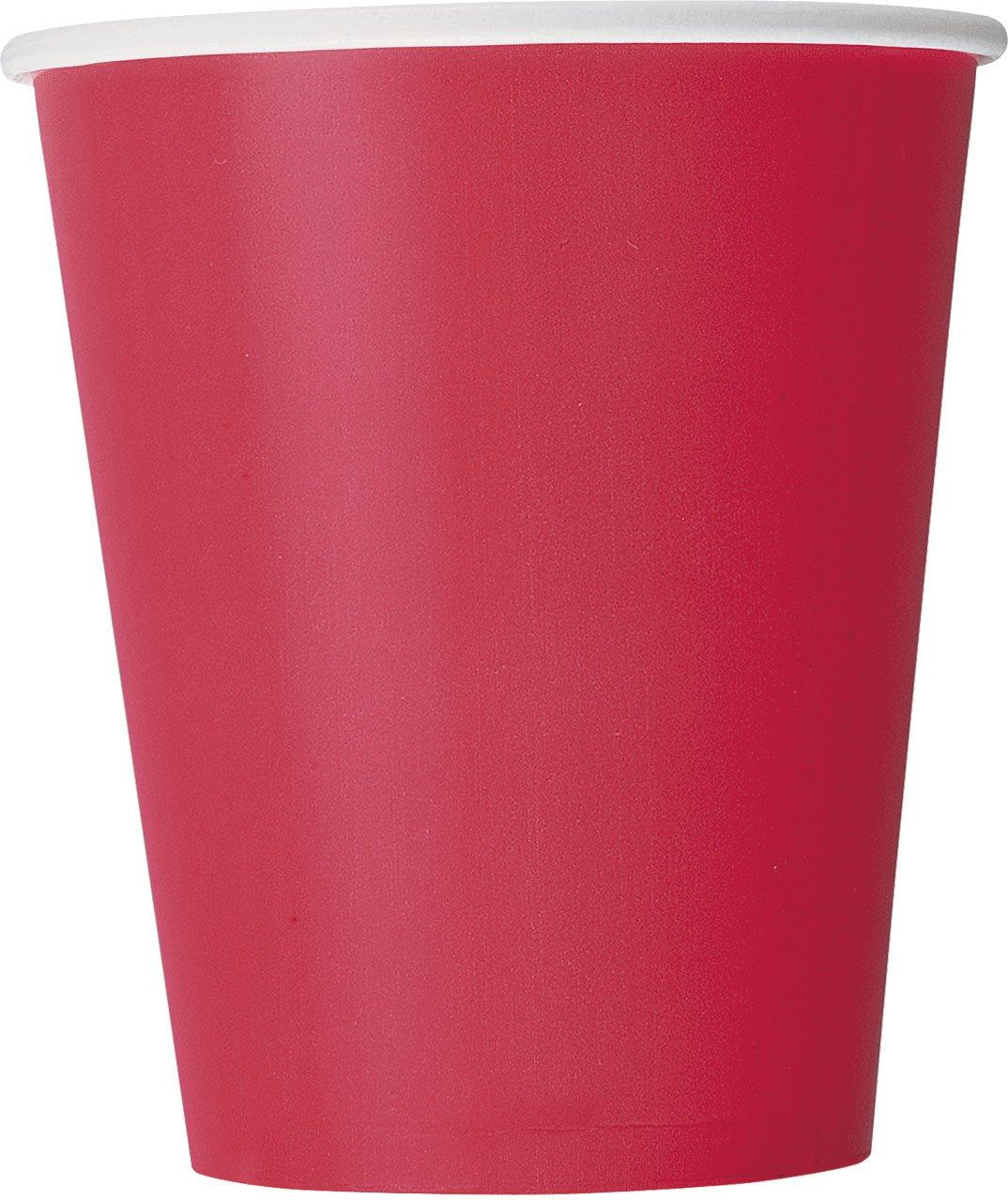 Unique Party - 50026 - Nappe Ronde en Plastique - 2,13 m - Orange