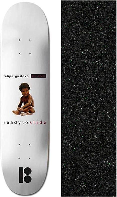 Plan B Felipe Notorious Black Ice 8 inch Skateboard Deck with Mob Glitter Grip Tape