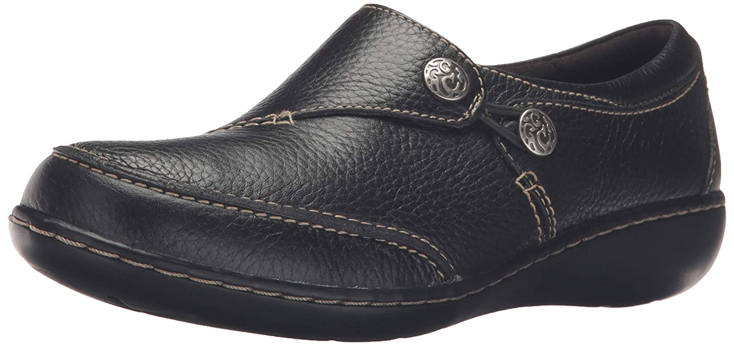 Black Clarks Women's Ashland Lane Q Slip-on Loafer