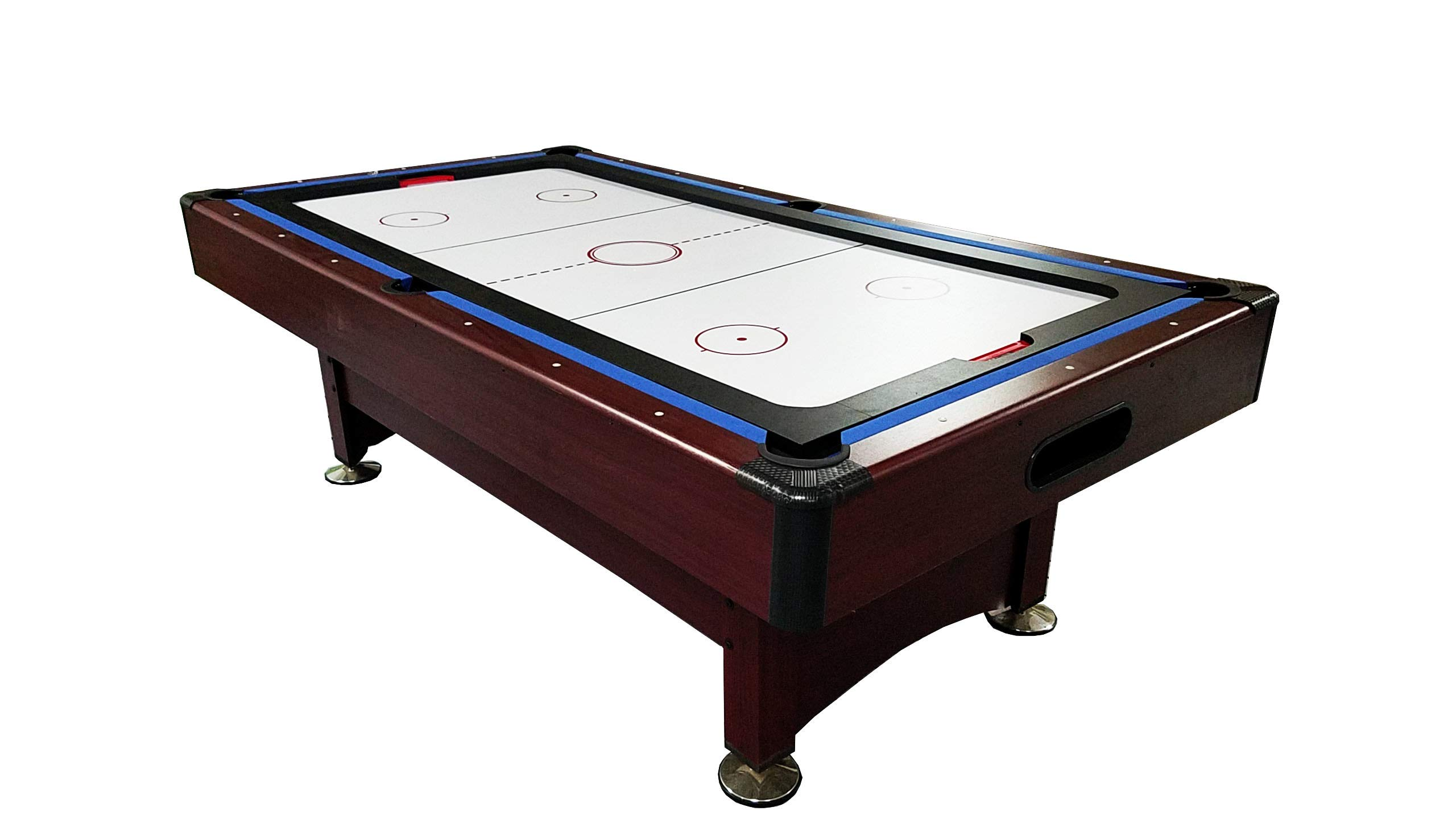 Pool Central Recreational 2-in-1 Pool Billiards and Air Hockey Game Table, 8'