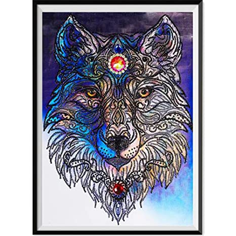 Suitray Diy 5d Diamant Painting Tiere Tiger Bär Wolf Muster Crystal