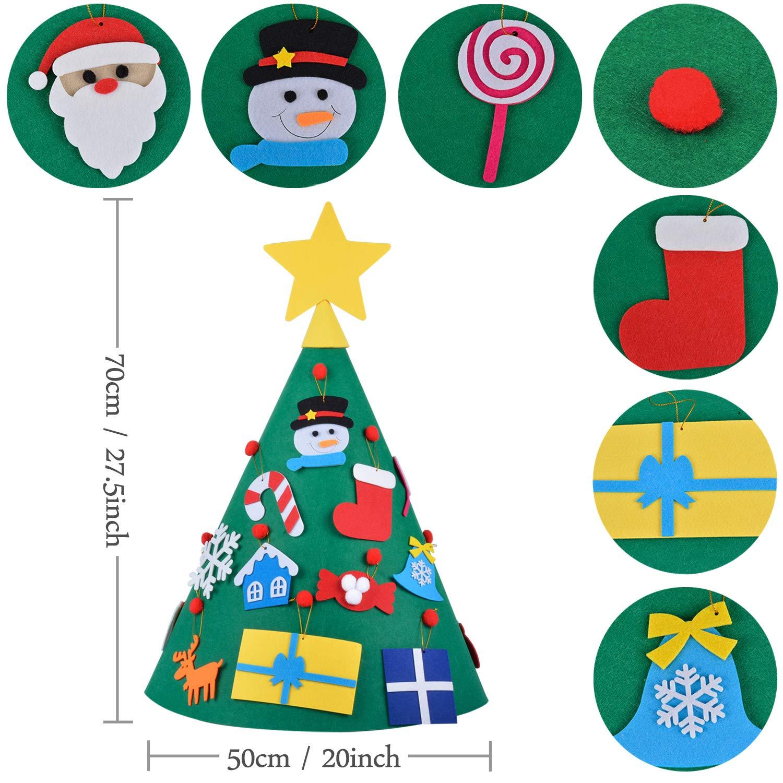 Outgeek 3D Felt DIY Tree Felt Toys for Kids Felt Toddler Educational Toys