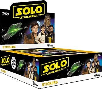 Topps- Sammelsticker-Solo A Star Wars Story-30 Booster im Display Pegatinas de colección, Color carbón (D106295-DE/DI): Amazon.es: Juguetes y juegos