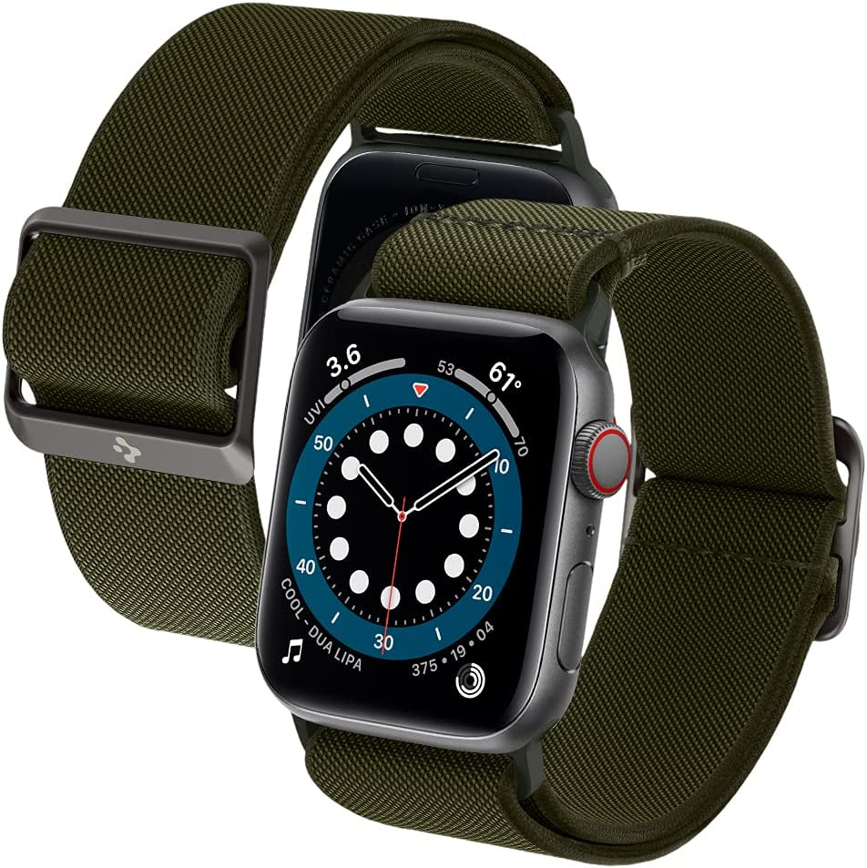 Spigen Lite Fit Designed for Apple Watch Band for 44mm Series 6/SE/5/4 and 42mm Series 3/2/1 - Khaki