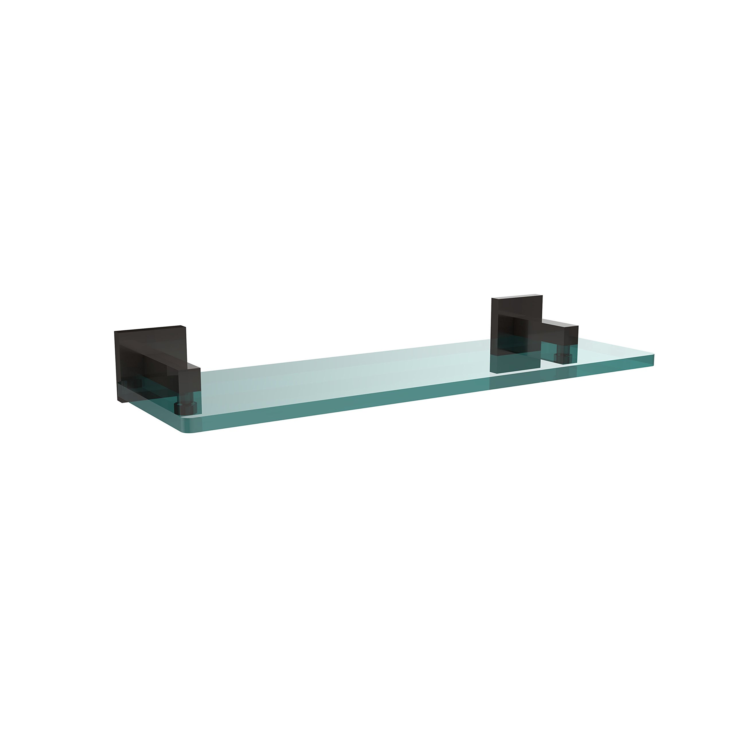 Allied Brass MT-1-16-ORB Montero Collection 16 Inch Glass Vanity Shelf with Beveled Edges Oil Rubbed Bronze