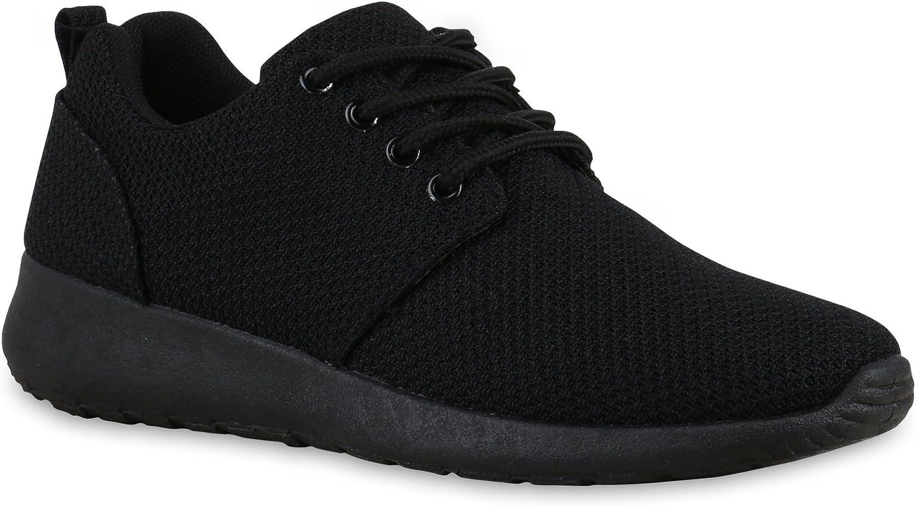 Stiefelparadies Mujer Zapatilla de Deportes Zapatilla de Footing Suela Dentada 132202 Negro 36 Flandell: Amazon.es: Zapatos y complementos