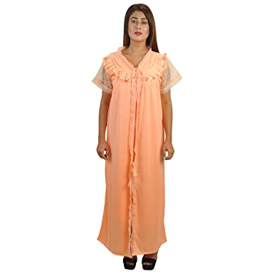 0c5af8a3af Piyali s Creation Women s Pink Coloured Satin Made Nightwear for Women s   Amazon.in  Clothing   Accessories