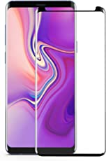 """CONMDEX Samsung Note 9 Screen Protector Clear 3D Curved Tempered Glass 6.4"""" Full Cover Screen Protector Anti-Scratches/Anti-Bubble/Case Friendly, with Installation Kit in Pack (Black)"""