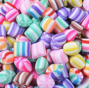 30pcs Assorted Slime Charms Rainbow Marshmallow Candy Heart Shaped Resin Charms Slices Flatback Buttons Cabochons for Handcraft Miniature Fairy Garden Accessories Scrapbooking DIY (round)