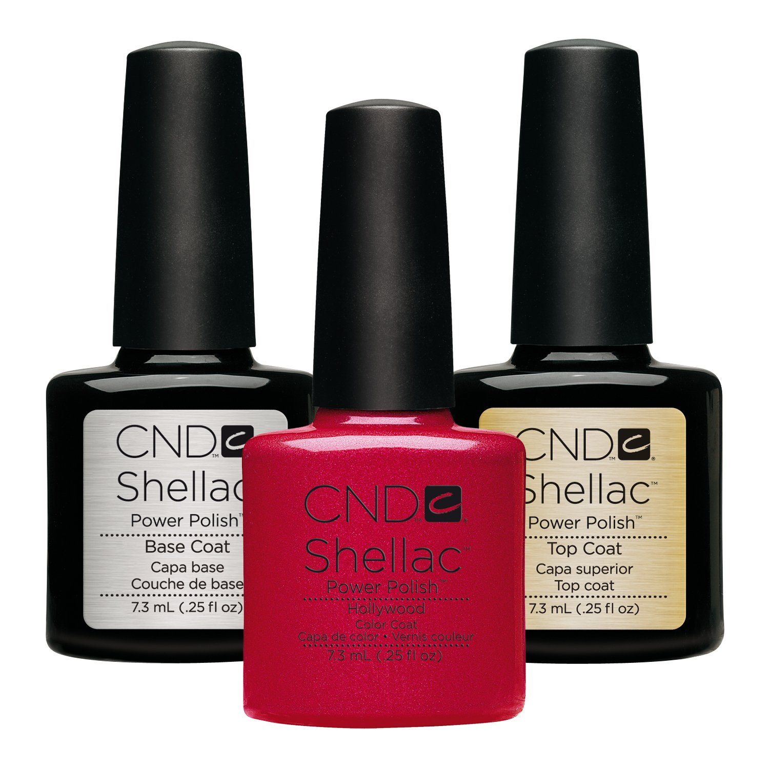 CND Original CND Shellac Hollywood plus Base Coat plus Top Coat 7.3 ml, 1er Pack (1 x 22 ml) AMPACK029