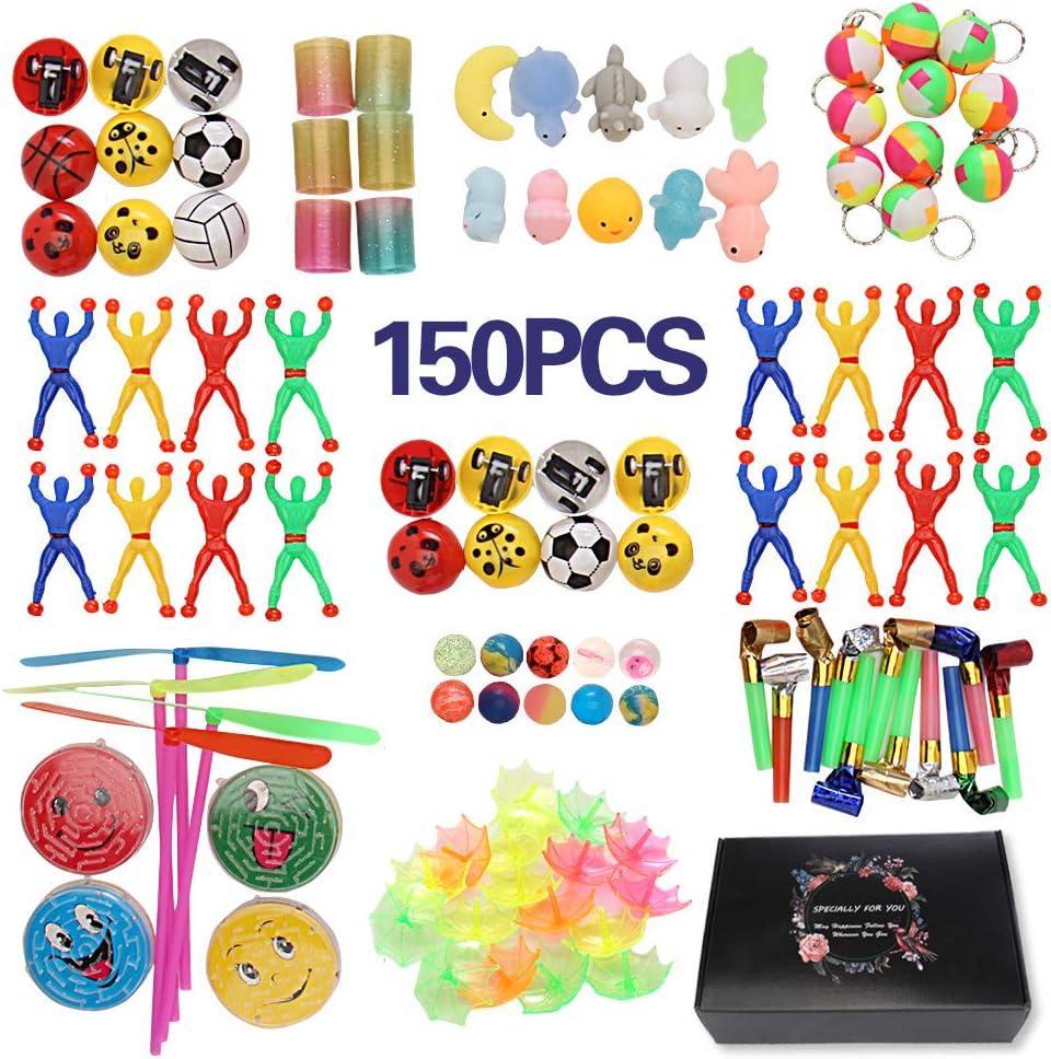 JiaLe 150 Juguetes de Fiesta a Granel - Ideal Rellenar Bolsas de Fiesta, Piñatas y Muchos Otros usos