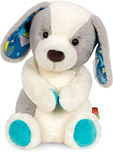 B. Toys – Happy Hues – Candy Pup – Huggable Dog Stuffed Animal Toy – Soft & Cuddly Plush Puppy – Washable – Newborns, Toddlers, Kids