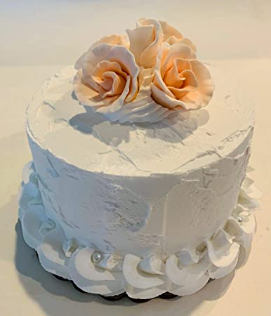 Terrific Amazon Com Dezicakes Fake Wedding Cake Peach Roses Faux Cake Prop Personalised Birthday Cards Paralily Jamesorg
