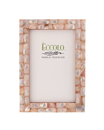 eccolo world traveler naturals collection mother of pearl frame holds 5 by 7