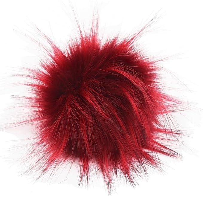 e38cd895715 Amazon.com  DIY 12pcs Faux Raccoon Fur 11cm Pom Pom Ball for Knitting Hat  DIY Accessories (Mix Colors)