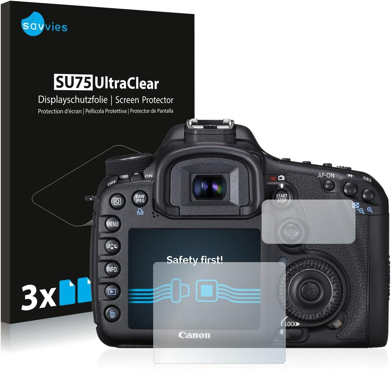 savvies Protector Pantalla Compatible con Canon EOS 7D (6 Unidades ...