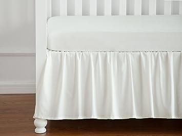 Crib Skirt Dust Ruffle Baby Bedding, 100% Natural Cotton, Nursery Crib  Bedding Skirt