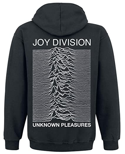 Felpa (L) Unknown Pleasures Zipped Hoodie (Black) Con Cappuccio