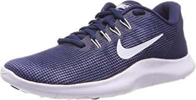 Nike Flex 2018 RN, Zapatillas de Running para Hombre, Azul (Midnight Navy/White-Blue Recall 400), 45.5 EU: Amazon.es: Zapatos y complementos