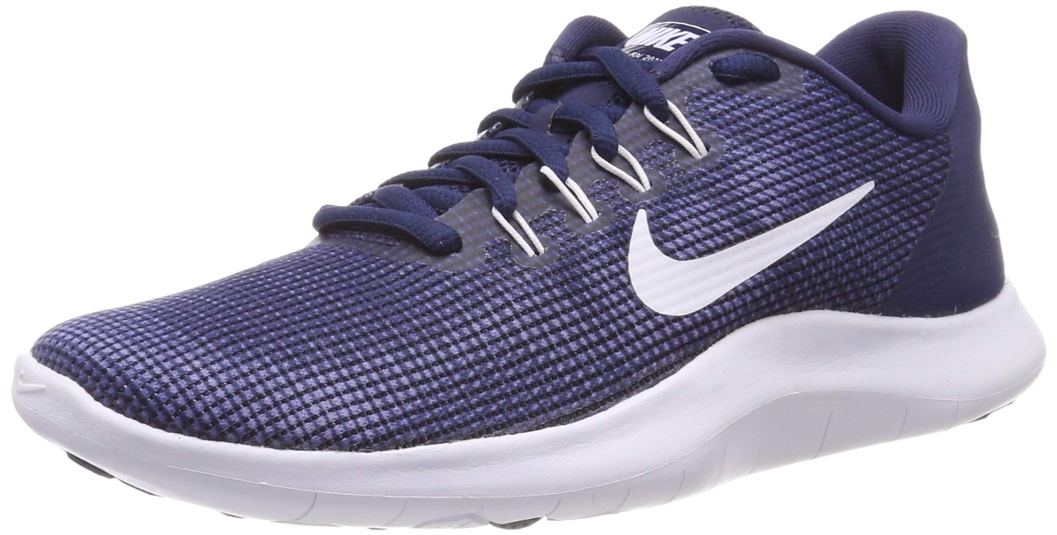 9281cc532dd6 Galleon - Nike Men s Flex RN 2018 Running Shoe Midnight Navy White-Blue  Recall (10 D US)