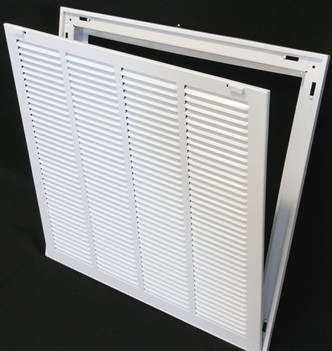 30'' X 14 Steel Return Air Filter Grille for 1'' Filter - Removable Face/Door - HVAC DUCT COVER - Flat Stamped Face - White [Outer Dimensions: 32.5''w X 16.5''h] by HVAC Premium (Image #7)