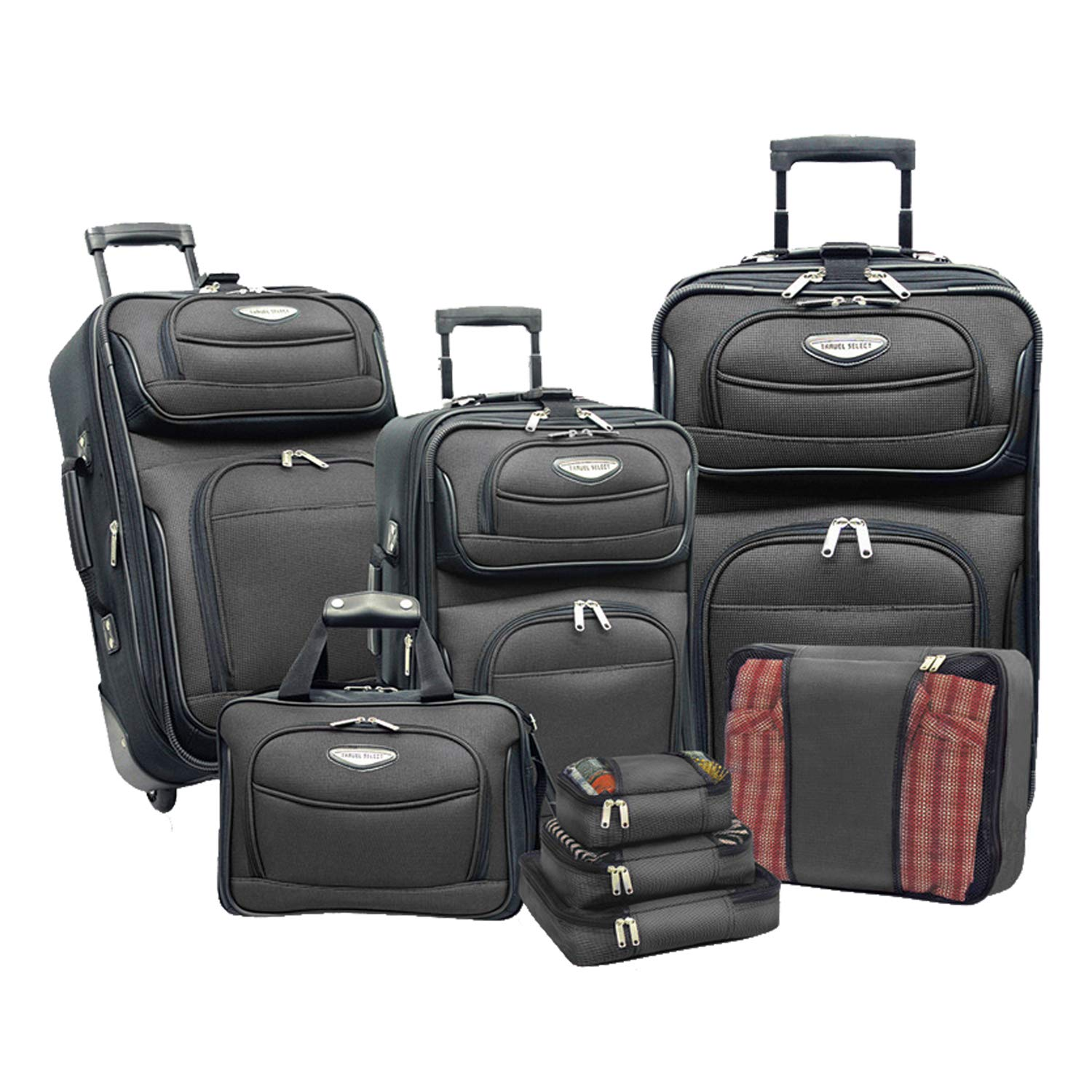 Travelers Choice Amsterdam 8pc Set, Orange TS6950O-XX UD1288