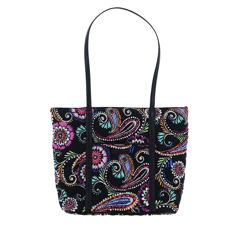 3e167be3ead Amazon.com  Vera Bradley Small Trimmed Vera Tote Bag (Bandana Swirl)  Beauty